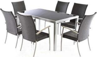 Luxusní zahradní stolová jídelní sestava MADRID set 6-AL