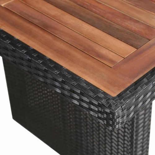 Luxusní kombinace černého umělého ratanu a masivního dřeva