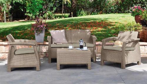 Polyratanový set zahradního nábytku s dvěma křesly