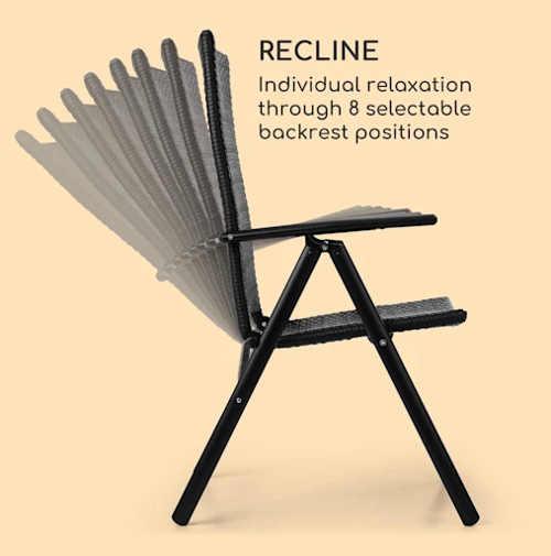 Ratanová židle s vysokým polohovatelným opěradlem