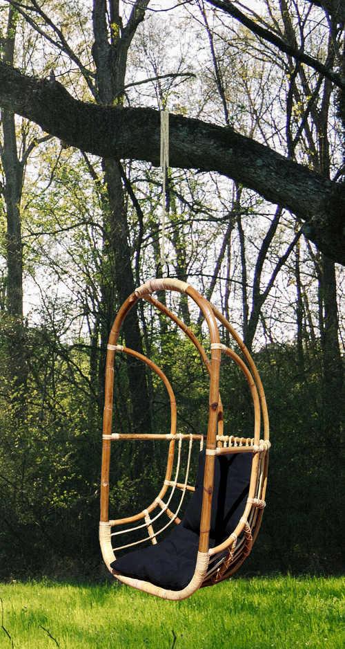 Závěsná houpačka z bambusového dřeva