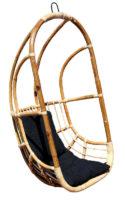 Závěsné křeslo z bambusu a ratanu