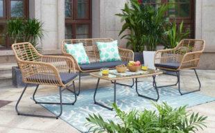 Retro zahradní nábytek dokonalá imitace přírodního ratanu