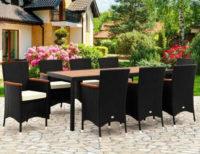 Velký polyratanový set zahradního nábytku s osmi křesly