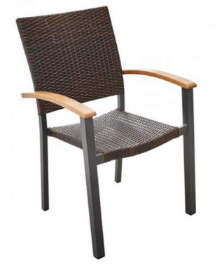 Zahradní židle CALVIN s ratanovým výpletem