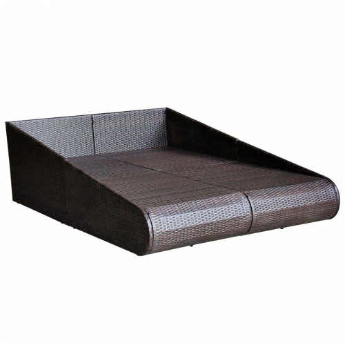 Moderní ratanová postel na zahradu i terasu