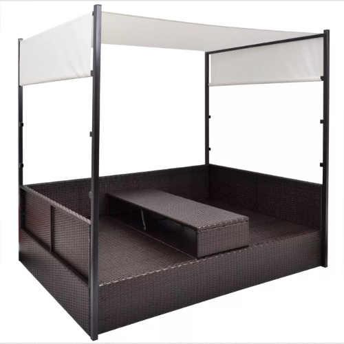 Ratanová postel v moderním designu