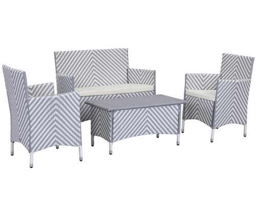 Sada nábytku z ratanu v impozantním designu