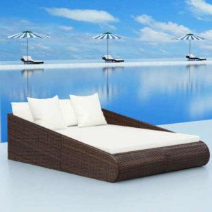 Zahradní ratanová postel v luxusním designu