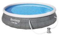 Samonosný nadzemní bazén s ratanovým potiskem Bestway 3,96 x 0,84 m