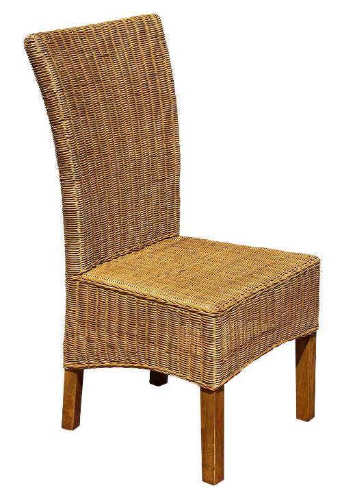 Jídelní židle z přírodního ratanu