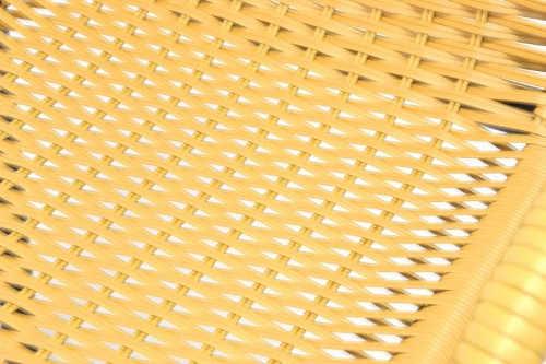Komfortní a pohodlný výplet zahradních židlí z umělého ratanu