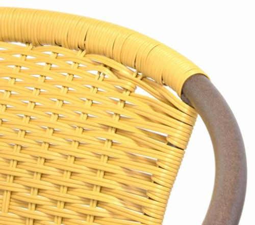 Kovové zahradní židle s pohodlným výpletem z umělého ratanu