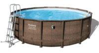 Kruhový ratanový bazén Bestway Power Steel Deluxe 4,88 x 1,22 m