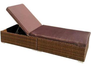 Luxusní polohovatelné lehátko New York k zahradnímu bazénu z umělého ratanu