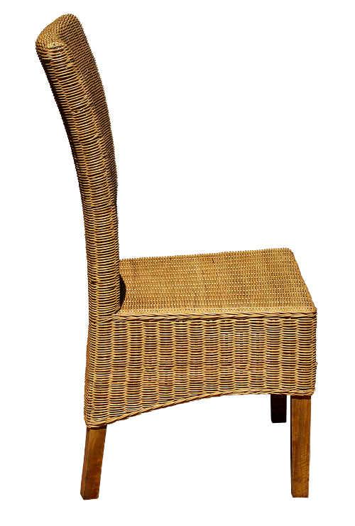Luxusní židle konstrukce masiv mango výplet z přírodního ratanu