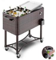 Ratanový vozík na chlazení nápojů nebo potravin