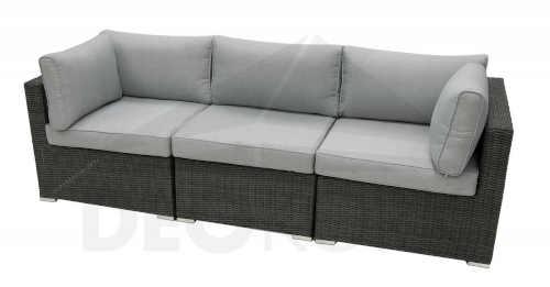 Pohodlná ratanová 3-místná sedačka