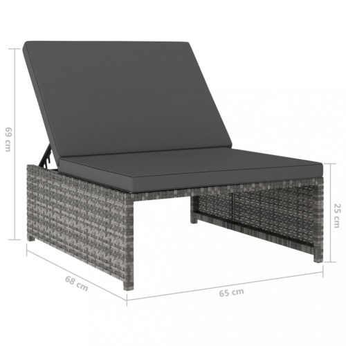 ratanová sestava dvou křesel a stolku