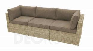 Moderní ratanová trojmístná lavice