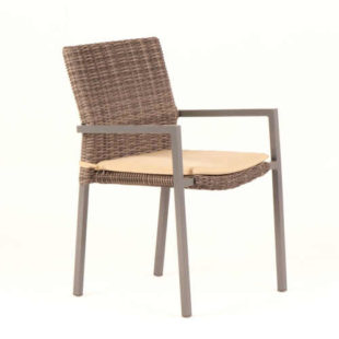 Sada 4 zahradních židlí s podsedákem