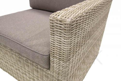 polyratanová béžová trojmístná lavice