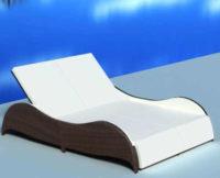 Polyratanové moderní lehátko pro 2 osoby