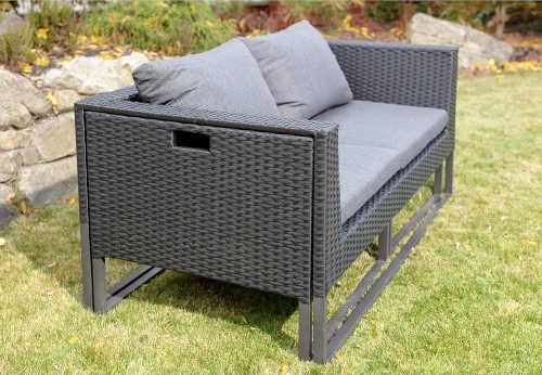 ratanový šedý zahradní set