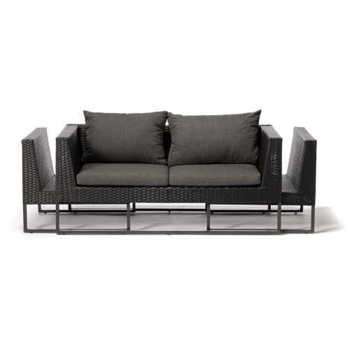 šedý zahradní set nábytku