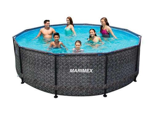Kruhový nadzemní bazén v ratanovém vzhledu