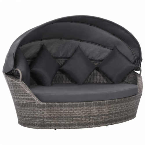 Ratanová postel s baldachýnem