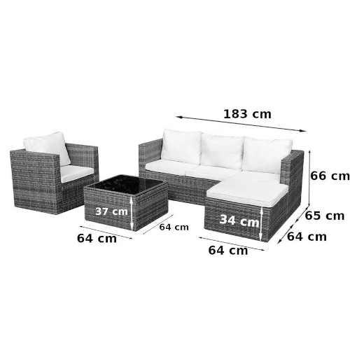 černá variabilní rohová sedačka