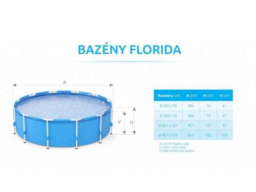 rodinný bazén v ratanovém designu