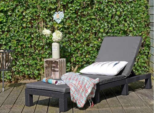 zahradní ratanové moderní lehátko